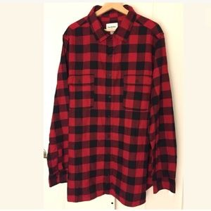 Goodfellow Co Black/Red Check LS Button Up